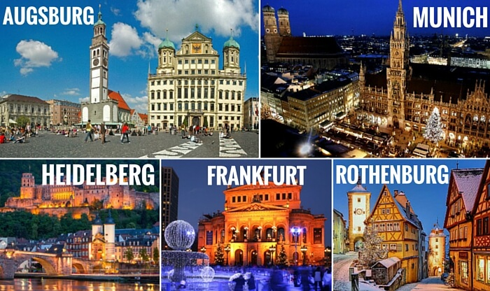 A collage of the cities covered in your Germany trip