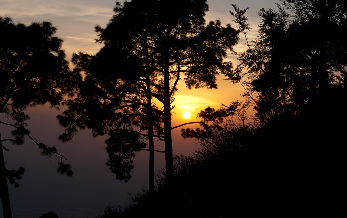 Sunset view from the Kasauli Hills