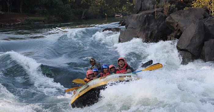 Rafting is a popular watersport at Kolad
