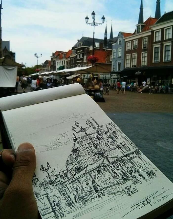 Amit's sketch in Delft