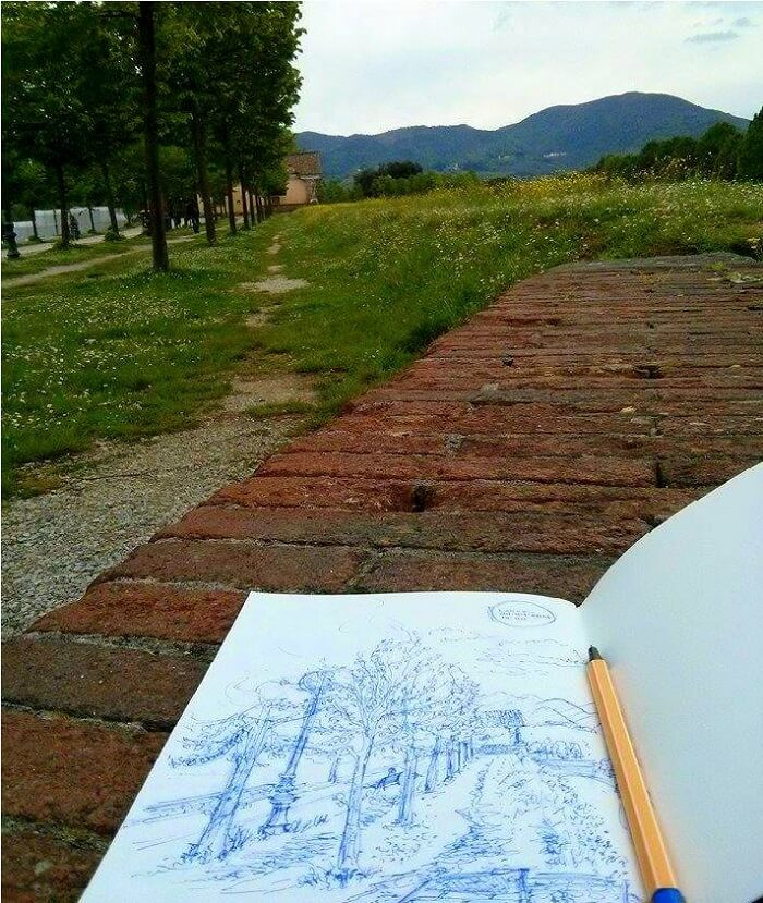 Traveling and Sketching