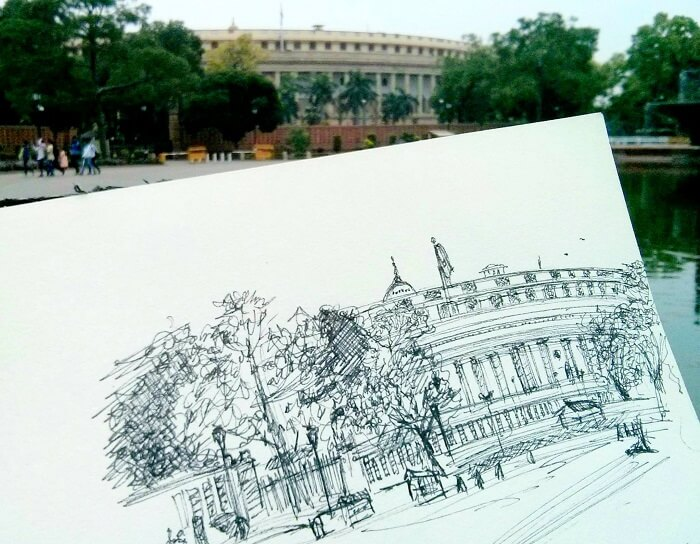 A doodle of the Parliament House