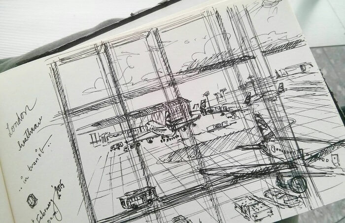 London Heathrow Airport Sketch