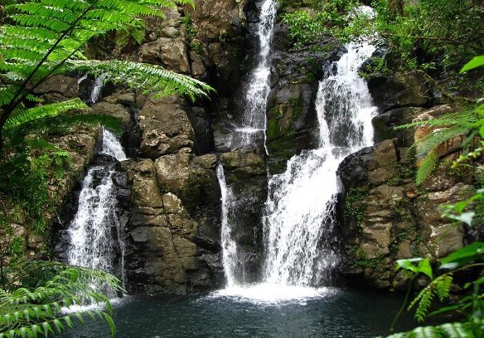 The beautiful Tovoro Waterfalls in Taveuni