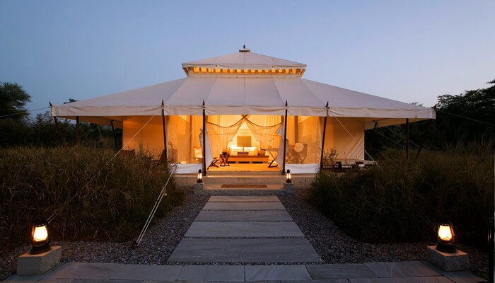 Special tents of Aman-i-Khas make it one of the best hotels in Ranthambore