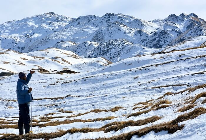 Snow meadows of Auli that is one of the best hill stations in Uttarakhand for winters