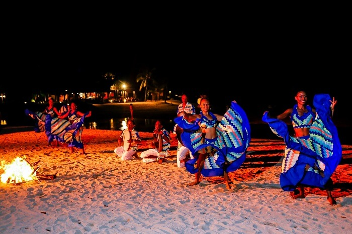 An African live performance at C Beach Club – one of the top beach clubs in Mauritius