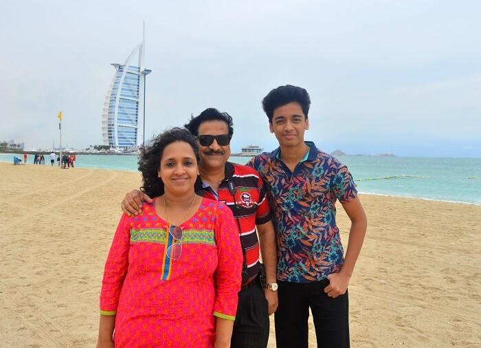 Raman's family in Dubai