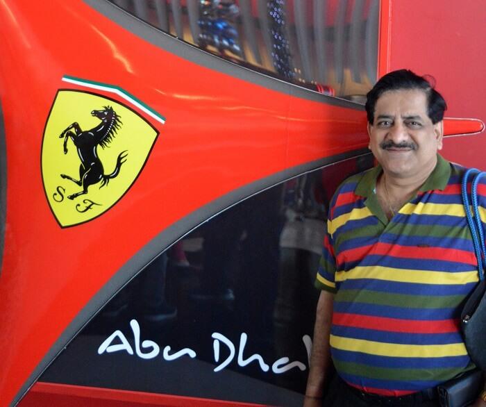 Raman at the Ferrari World, Abu Dhabi