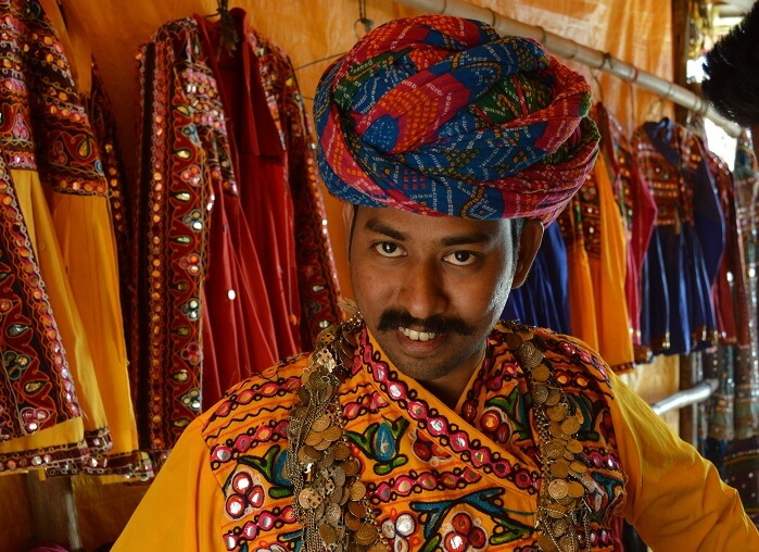 Arvind in typical Rajasthani attire