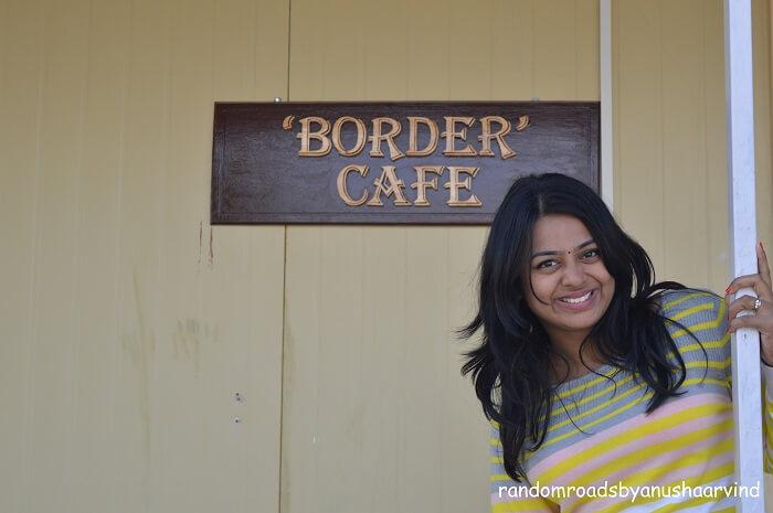 Anusha in the Border Cafe near Tanot Border