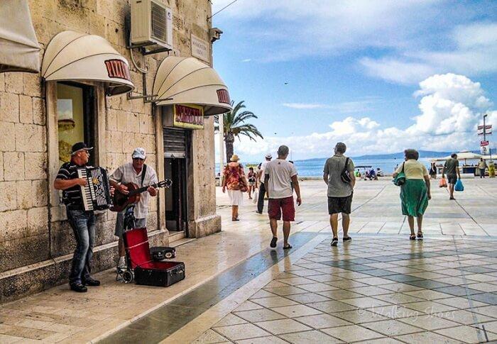 Leena clicking photos of tourists in Croatia