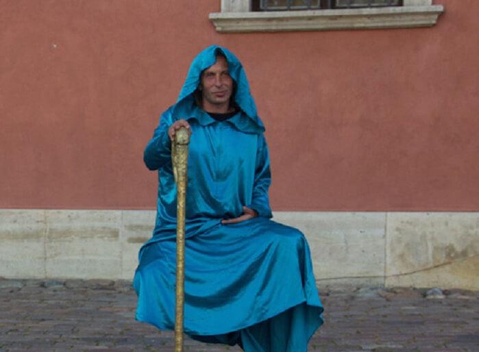 Street magic show in Poland