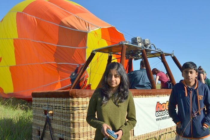 Getting Ready for Balloon Ride