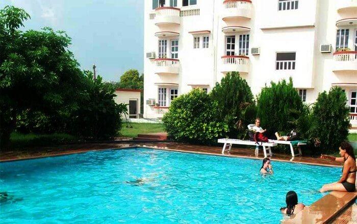 The pool at Green Park resort guarantees a rejuvenating stay