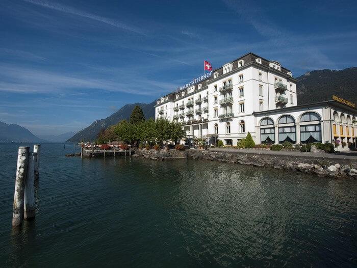 Hotel Waldstaetterhof is one of the best hotels to stay on a Switzerland honeymoon