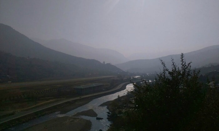 evening view of the scenic Bhutan