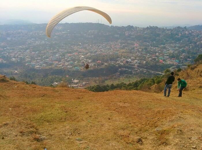 Vivek doing paragliding in Dharamshala