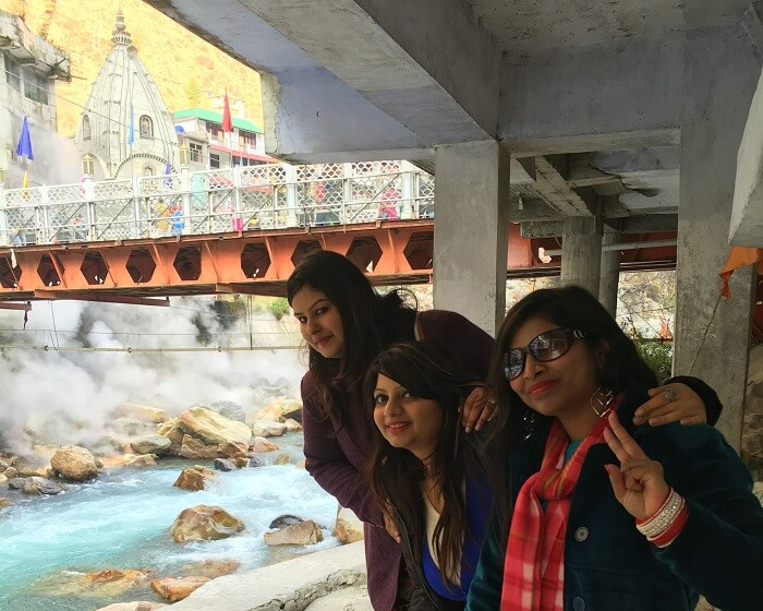 At Gurudwara Manikaran Sahib