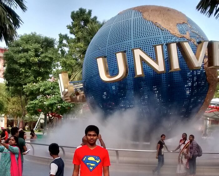 Siva's elder son at the Universal Studio