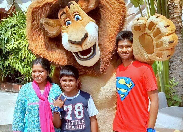 Siva's family in Singapore