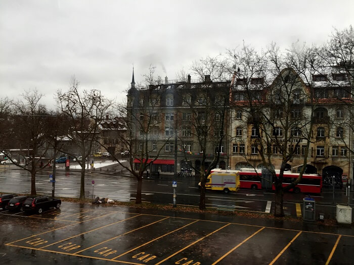 A wet day in Zurich