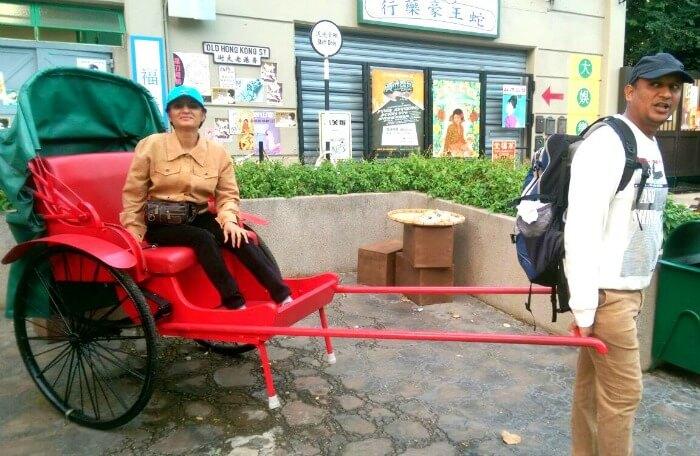 Poonam and her husband having a good time in Macau