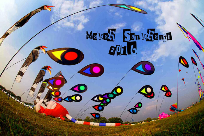 Makarsankranti is celebrated by flying kites in several parts of India