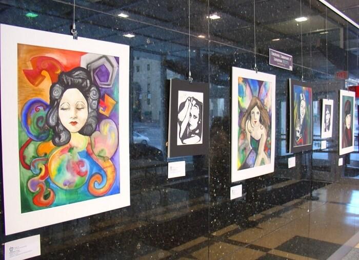 Interesting displays at Kovalam Art Gallery