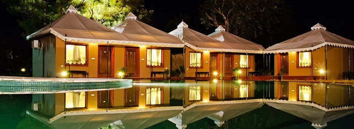 The luxurious swiss tents of Lohana Village Resort