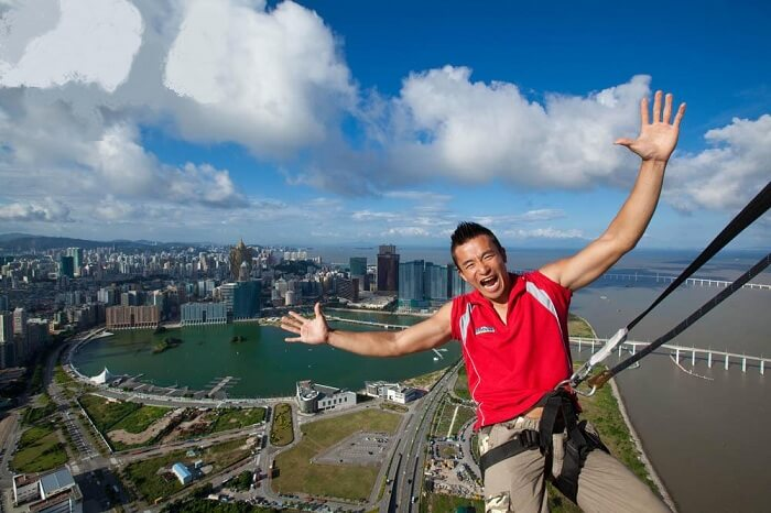 The thrilling skywalk on the top of Macau Tower is one of the best experiences in Macau