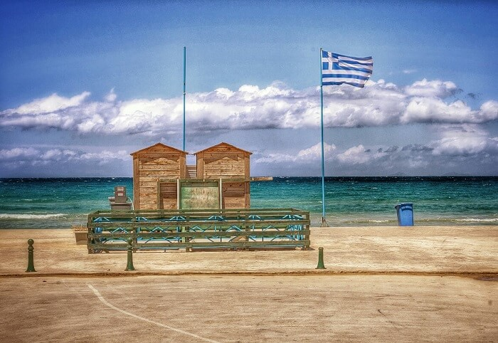 Greek National Flag at Tsilivi Beach is a picture perfect view