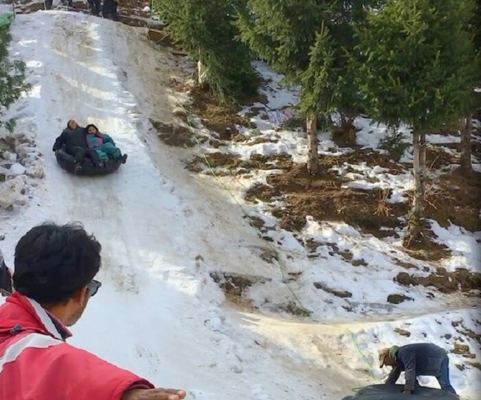 Tube ride in Manali