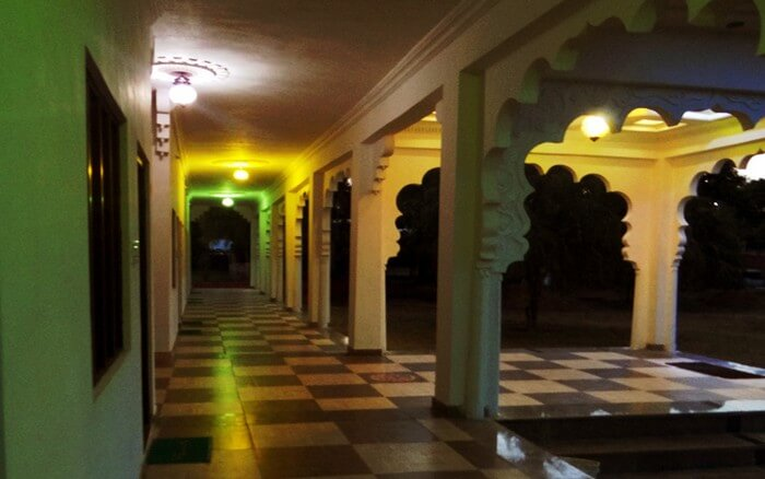 The galleries of Vella resort resemble the royal palaces