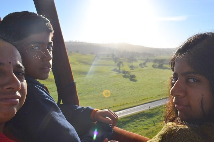 View from Hot Air Balloon in Australia