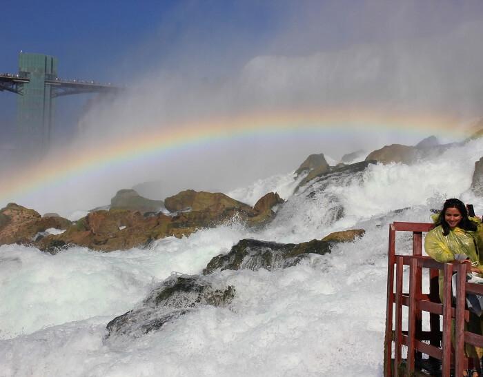 Leena at the Niagara Falls in Canada