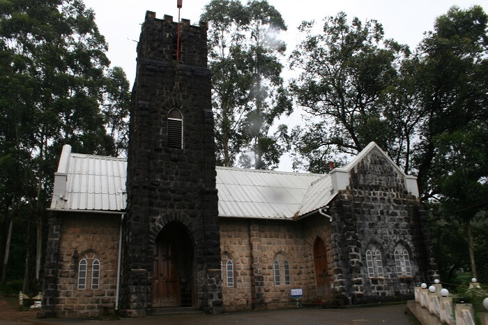 View of the entrance to the CSI Church in Munnar