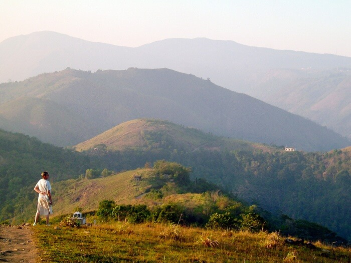 The beautiful cinnamon hills of Munnar trekking