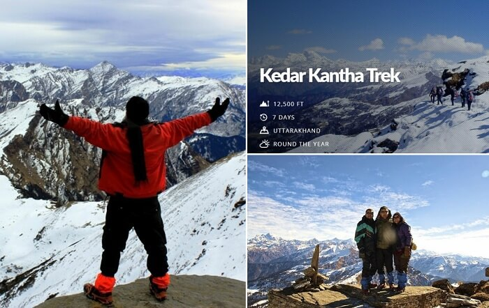Snaps from the Kedarkantha winter trek of different people
