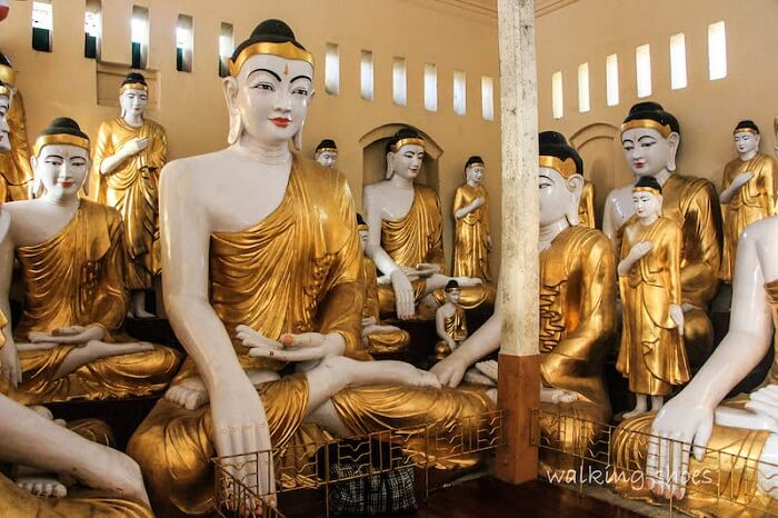 Buddha idols being made in Myanmar