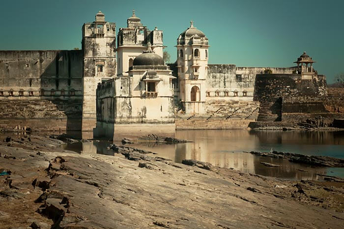 The ruins of the palace of Rani Padmini