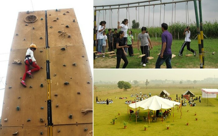 Scenes from Shikhar Adventure Park that is considered as one of the most adventurous places in Delhi NCR