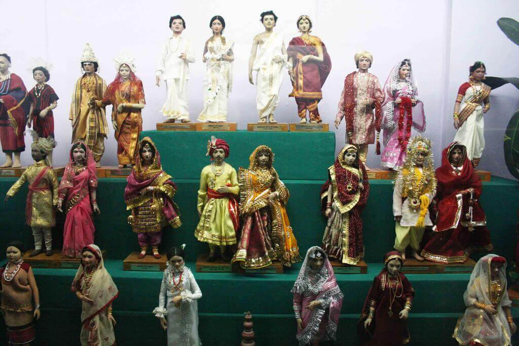 dolls in a doll museum in Delhi