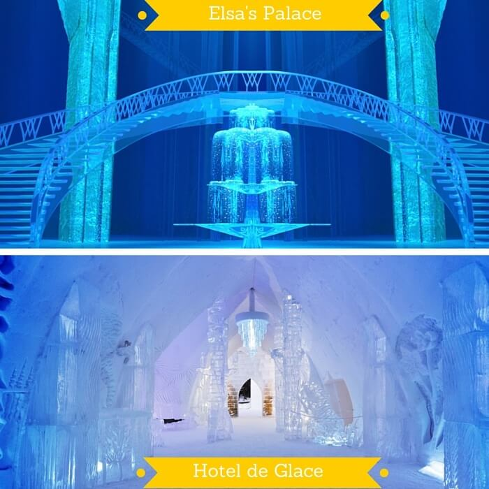 Elsa's Palace vs Hotel de Glace in Canada
