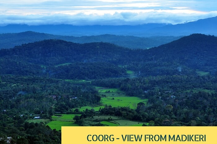 View of Coorg from the seat of Raja in Madikeri