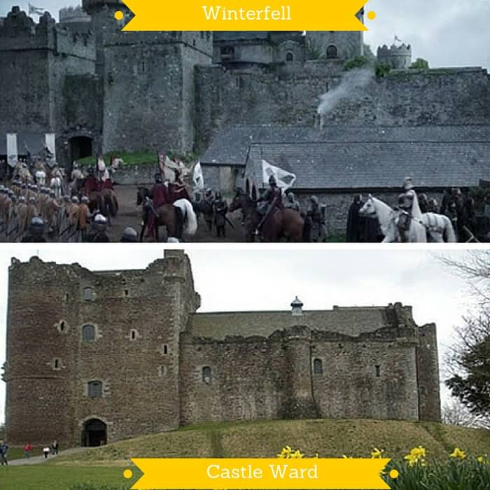 The Castle Ward that was one of the castles used to depict Winterfell in GOT
