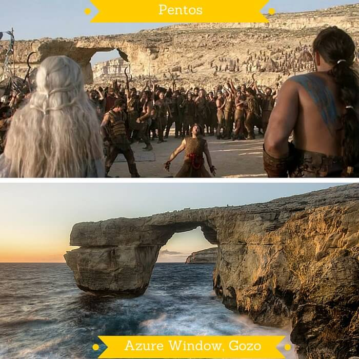 Azure Window on Gozo Islands that were used to depict Pentos in GOT