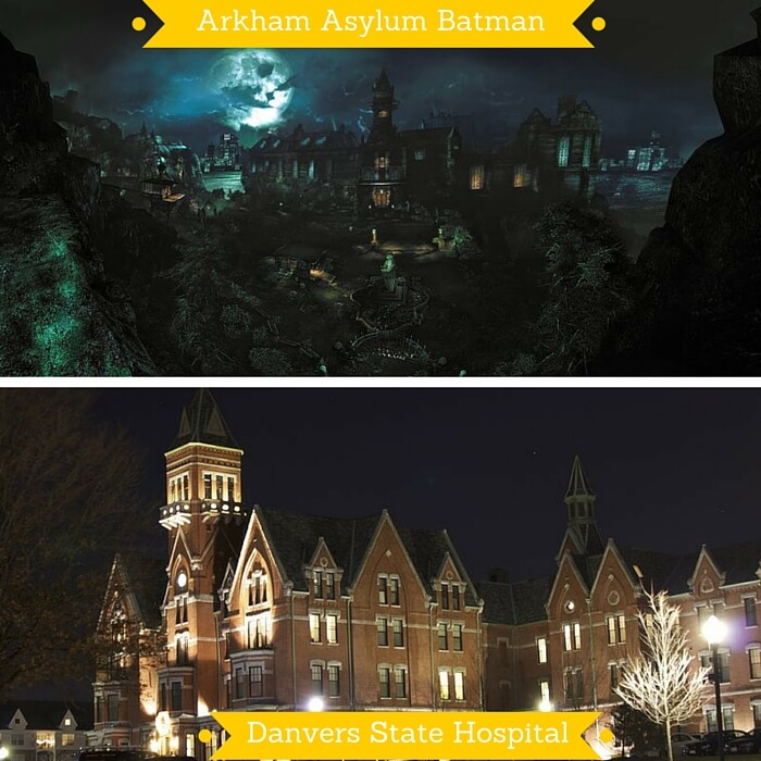 The Arkham Asylum from Batman and the Danvers State Hospital on which it is based
