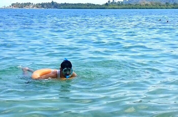 Abhinav snorkeling in Andaman