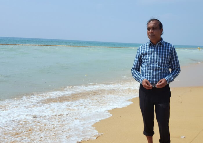 Mohan at the Golden Beach